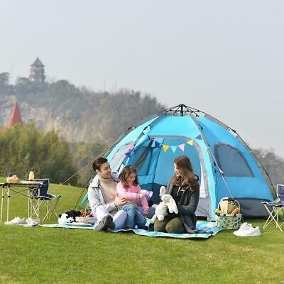 Outdoor 6 Person Automatic Tent Double Layer Rainproof Breathable Travel Canopy