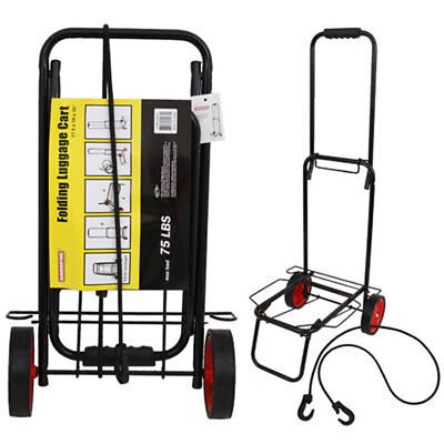 """75 lbs 39"""" Multi-Use Compact Folding Travel Trolley Luggage Hand Cart"""