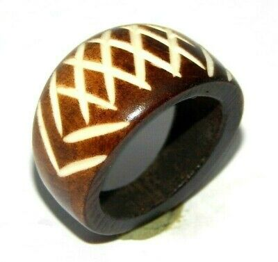100% Natural Bone Carving Designer Handmade Fashion Jewelry Ring Size 9 R410