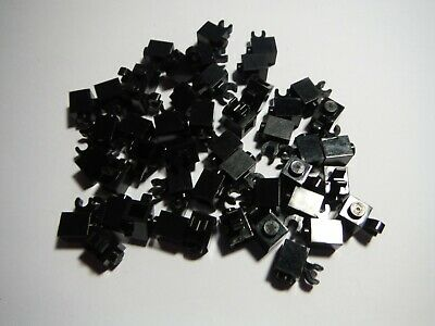 Lego X50 Pieces New Black 1x1 Brick Bulk Building Parts Lot