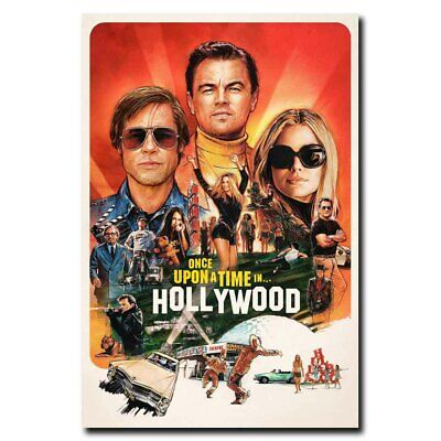 Once Upon a Time in Hollywood 12x18/24x36inch Movie Silk Poster Art Print