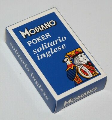 Modiano - Poker Solitario Inglese - Deck of Playing Cards - Sealed