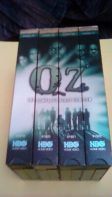 HBO Oz - The Complete First Season UNRATED 4-tape VHS Set gay prison life nudity