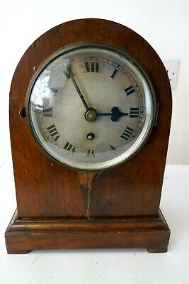 Antique Cased Medium Size Brass Fusee Movement Clock by Hirst Brothers