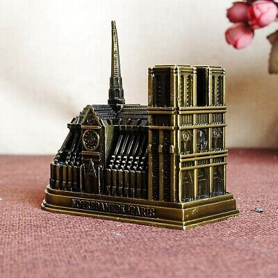 Cathedral Notre Dame DE Paris, France Tourism Souvenir 3D Metal Model Craft