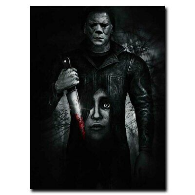 Halloween Michael Myers 12x16/24x32inch Horror  Movie Silk Poster