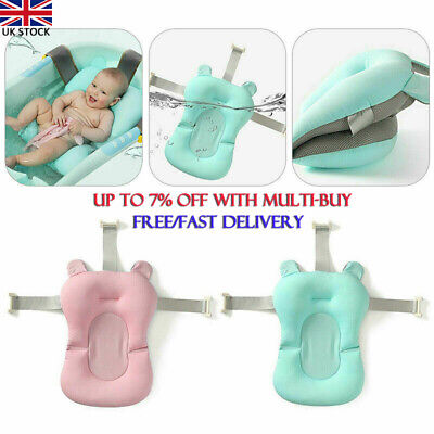 Baby Bath Pad Non-Slip Bathtub Mat New Born Safety Security Bath Seat Support .