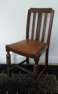 Vintage Shabby Chic Solid Wood Hallway Occasional Chair With Upholstered Seat