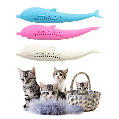 Interactive Cat Toothbrush Silicone Molar Stick Teeth Cleaning Toy Pet Supplies