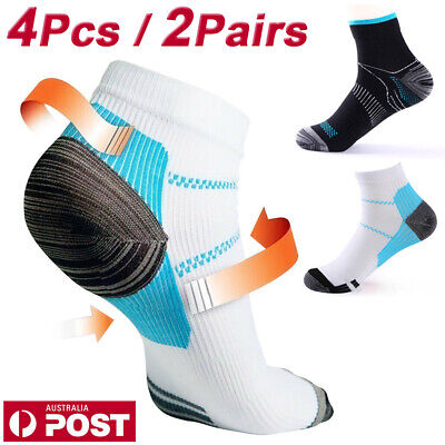 4Pcs Plantar Fasciitis Relief Foot Pain Sleeves Heel Ankle Sox Compression Socks