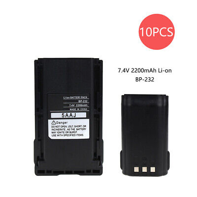 10X Replacement Battery for Icom BP-232 BP-230 IC-F14 IC-F3011 2200mAh Li-Ion