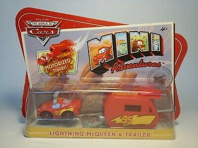 Disney Pixar Cars The World of Cars Mini Adventures Lightning McQueen & Trailer