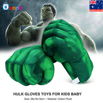 Kids Baby Hulk Hands Plush Boxing Gloves Fist Performing Props Cosplay Tool AU