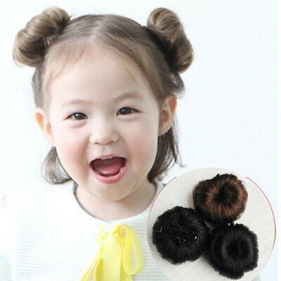 FP- Girls Hair Bun Extension Wig Hairpiece Wavy Curly Messy Donut Chignons Prope