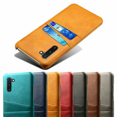 For Samsung Galaxy Note 10 Plus S10 Leather Wallet Card Pocket Hard Case Cover