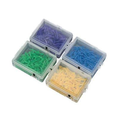 100X Dental Plastic Poly-Wedges with Holes Round Stern 4 Color^
