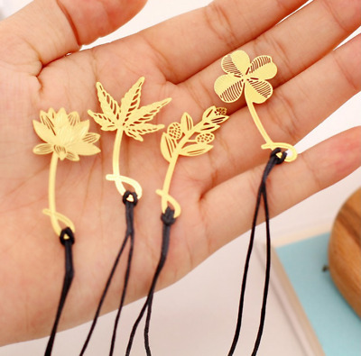 High Quality Mini Flower Creative Metal Bookmarks for Learning Olive Branch Pack