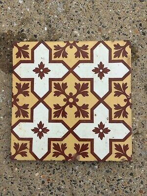 Stunning Victorian Encaustic Pattern Tile, by Steele & Wood. C 1890