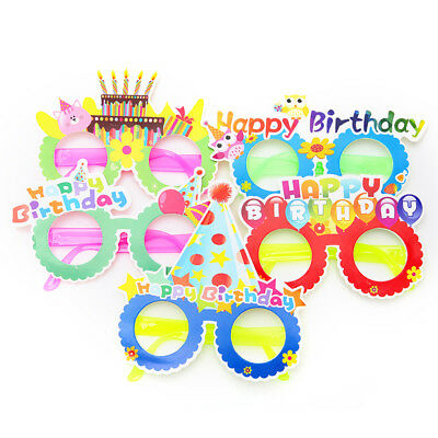 1x Cartoon funny party paper glasses happy birthday theme party supplies deco  I