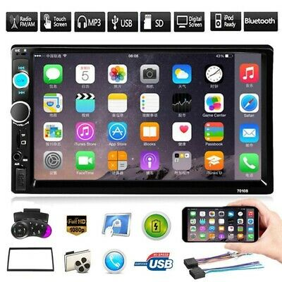 """Double 2Din Autoradio 7"""" Touchscreen MP5 Player Android/ISO Mirror Link + Rahmen"""