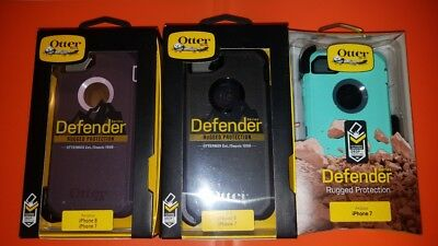 New! OtterBox Defender For Apple iPhone 7 & iPhone 8 Case Belt Clip SHIPS NOW