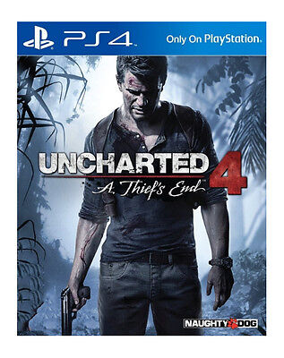 PS4 Uncharted 4: A Thief's End (Sony PlayStation 4, 2016) Brand New and Sealed