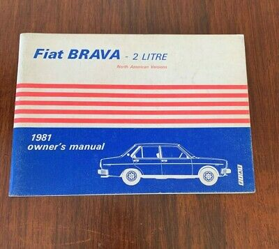 1981 Fiat Brava Factory owners Manual