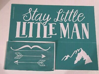 """Chalk Couture Transfer """"Stay Little Little Man"""""""