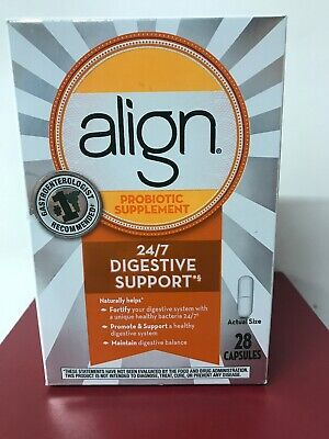 ALIGN Probiotic Supplement 24/7 Digestive support Capsules exp 9/2019