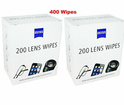 Zeiss 200 Lens Wipes Single Sachets Gentle & Though Cleaning - 2 PACK 400pcs