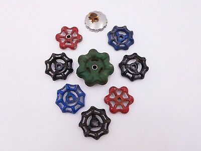 9 pcs Vintage Industrial Metal Outdoor Faucet Hose Bib Handle Knob Steampunk Art