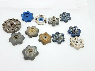 12pcs Vintage Industrial Metal Outdoor Faucet Hose Bib Handle Knob Steampunk Art