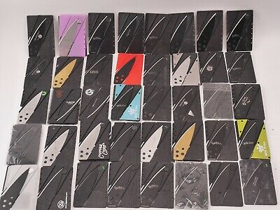 Credit Card Folding Knife Lot TSA Confiscated Mixed Wholesale For Resellers
