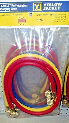 "YELLOW JACKET, REFRIGERATION, Charging Hose Set  36"" Yellow, Blue & Red"