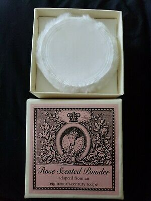 NEW in box ROSE SCENTED POWDER 113 gm w/ puff HISTORIC CHARLESTON FOUNDATION