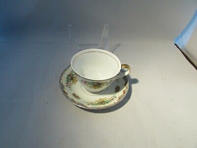 Vintage Empress Japan Pattern Blue Trim Fine China Cup and Saucer 1930's