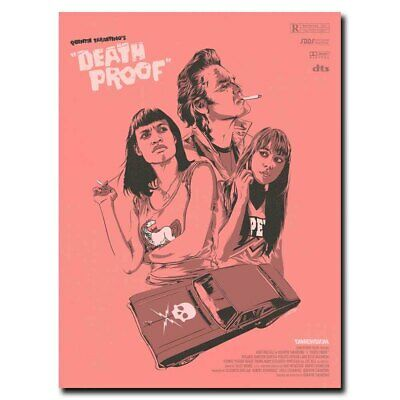 DEATH PROOF Classic Horror Movie Art Silk Poster 12x18 24x36