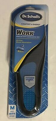 Dr. Scholl's Massaging Gel Comfort and Energy Work Insoles for Men 8-14