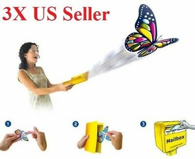 3pcs Card Magic Flying Plastic Butterfly Surprise Birthday Christmas US seller
