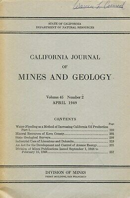 RARE old book, 200 gold & silver mines, Kern County, Calif, BIG sep maps, OOP VG