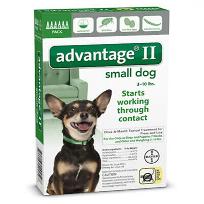 Advantage II (SMALL - Dogs under 10 lbs lbs)  6 Pack EPA APPROVED