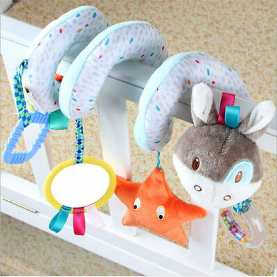 Infant Bed Stroller Crib Plush Doll Toy Animals Spiral Rattle Baby Funny Toy New