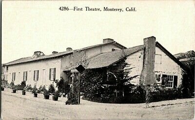 1915. FIRST THEATRE. MONTEREY, CA. POSTCARD w13