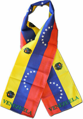 "Venezuela 8 Star Country Lightweight Flag Printed Knitted Style Scarf 8""x60"""
