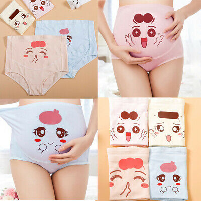 Pregnant Women Underwear Maternity High Waist Belly Support  Cartoon Panties