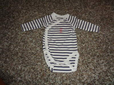 Petit Bateau Nb N/50 Blue Striped One Piece Tiny!!