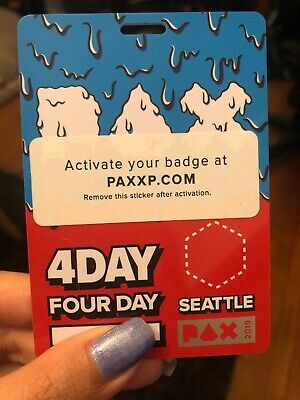 Pax West Prime Badge 2019 4 Day Friday Saturday Sunday Monday Ticket (Sold Out!)