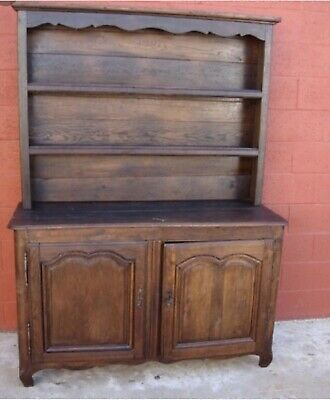 Antique French Country Oak Kitchen Dresser Sideboard Buffet Plate Rack Farmhou
