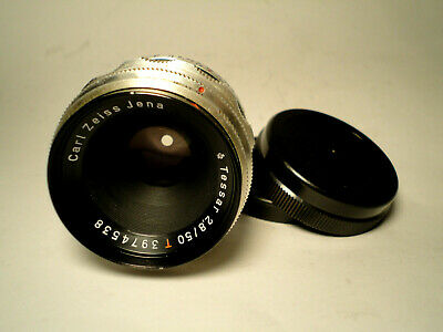 M42 Carl Zeiss Jena Tessar red T 2,8/50 1Q 12 Blades -TOP CONDITION VINTAGE LENS