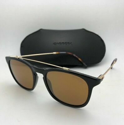 New CARRERA Sunglasses 154/S 807K1 51-19 Black & Gold Frames Bronze Mirror Lens
